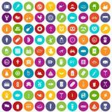 100 colore fissato della carne icone royalty illustrazione gratis