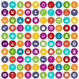 100 colore fissato di feste icone royalty illustrazione gratis