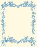 Colore floreale ornamentale decorativo del blu della pagina Fotografia Stock Libera da Diritti