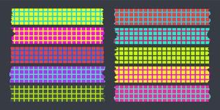 Colore fluorescente di mascheramento della serie di cassette illustrazione di stock