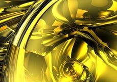 Colore giallo astratto Fotografie Stock
