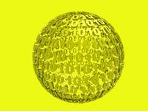 Colore giallo binario Immagine Stock