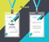 Colore giallo blu della carta di identità creativa Fotografia Stock Libera da Diritti
