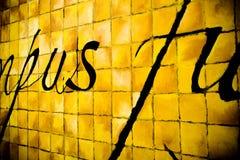 Colore giallo dei quadrati Fotografie Stock Libere da Diritti