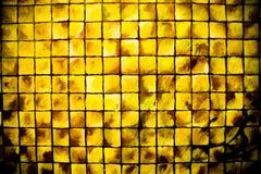 Colore giallo dei quadrati Fotografia Stock Libera da Diritti