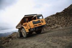 colore giallo del camion Fotografia Stock