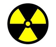 Colore giallo del segno di radiazione Fotografia Stock