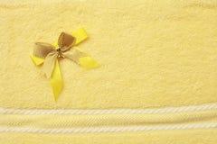 Colore giallo del tovagliolo Fotografie Stock