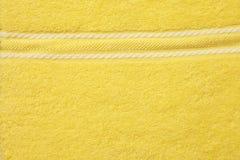 Colore giallo del tovagliolo Fotografia Stock Libera da Diritti