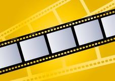 Colore giallo dell'illustrazione della pellicola Immagini Stock