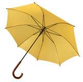 Colore giallo dell'ombrello aperto Immagini Stock Libere da Diritti