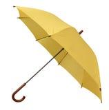 Colore giallo dell'ombrello aperto fotografia stock