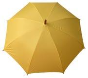 Colore giallo dell'ombrello aperto Fotografia Stock Libera da Diritti