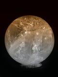 Colore giallo della sfera di cristallo fotografia stock libera da diritti