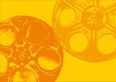 Colore giallo delle bobine di pellicola Immagine Stock Libera da Diritti