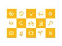 Colore giallo delle icone fotografie stock