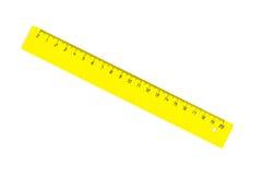 Colore giallo diagonale venti centimetri di ruller isolato Immagini Stock