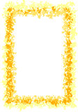 Colore giallo e bordo dell'oro illustrazione vettoriale