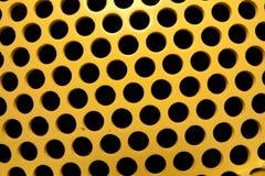Colore giallo e buchi neri Fotografia Stock