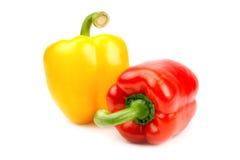 Colore giallo e colore rosso del pepe Immagini Stock