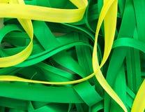 Colore giallo e Linee Verde Immagine Stock Libera da Diritti