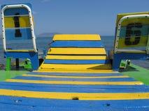 Colore giallo ed azzurro Immagini Stock Libere da Diritti