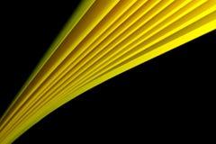 Colore giallo su priorità bassa nera Fotografia Stock Libera da Diritti