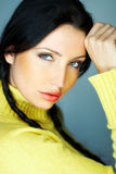 Colore giallo uno Immagine Stock