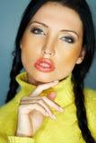 Colore giallo uno Fotografie Stock