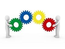 colore giallo verde blu rosso dell'attrezzo umano 3d Immagine Stock