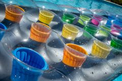 Colore gonfiabile di Lilo multi Fotografia Stock Libera da Diritti