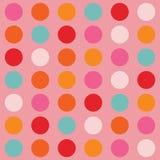 Colore grande Dots Pattern Illustrazione di Stock