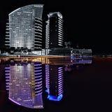 Colore intercontinentale del Dubai di riflessione del Dubai dell'hotel Fotografia Stock Libera da Diritti