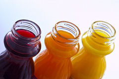 Colore le jus Photos stock