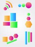 Colore le symbole réglé de logo d'icône Photo libre de droits