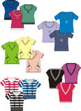 colore le vecteur graphique différent des chemises t Image libre de droits