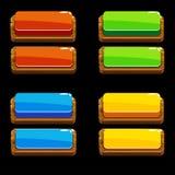 Colore les boutons poussoirs en bois pour un jeu illustration de vecteur