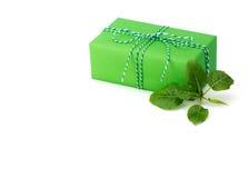 Colore luminoso del contenitore di regalo Fotografia Stock