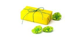 Colore luminoso del contenitore di regalo Fotografia Stock Libera da Diritti