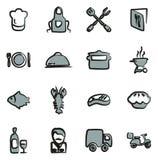 Colore a mano libera 2 delle icone di affari di approvvigionamento illustrazione vettoriale