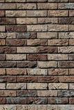 Colore marrone del muro di mattoni Immagine Stock Libera da Diritti