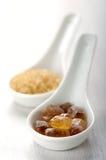 Colore marrone dello zucchero della caramella Fotografie Stock