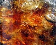 Colore marrone fresco che spruzza bevanda Immagine Stock Libera da Diritti