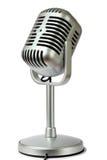 Colore metallico del microfono di plastica dello studio Fotografia Stock
