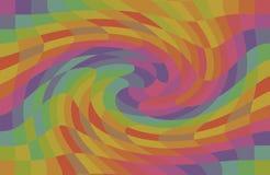 Colore multicolore dell'arcobaleno di turbine del modello geometrico illustrazione vettoriale