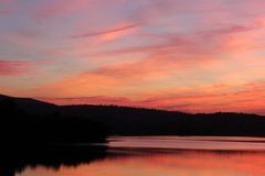 Colore naturale in cielo fotografie stock libere da diritti