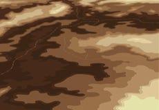 Colore naturale topografico di prospettiva 3d del programma illustrazione di stock