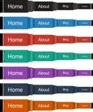 Colore navegações da perspectiva no vetor Fotos de Stock