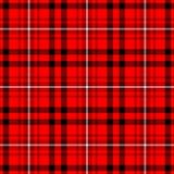 Colore nero e bianco luminoso e rosso scuro di tartan del plaid del tessuto scozzese del kilt del modello del fondo senza cucitur Fotografie Stock