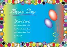 Colore o cartão congratulatório ilustração royalty free
